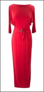 vestido rojo efecto fantasma