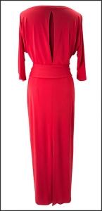 vestido rojo trasera efecto fantasma