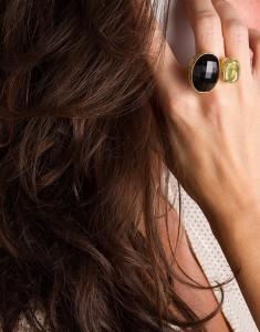 anillo foto con modelo