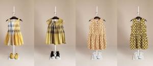 foto percha vestidos niñas