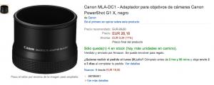 Fotografía ficha de producto de Amazon