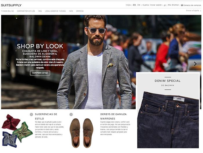 Navegación por looks en SuitSupply