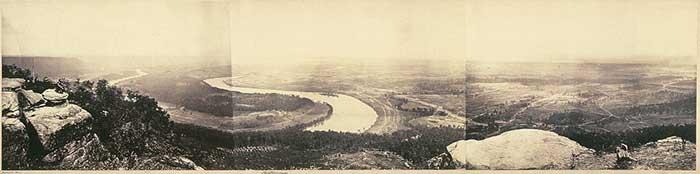 Fotografía panorámica de 1864