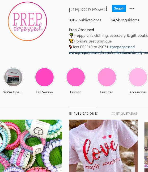 Retailers en Instagram