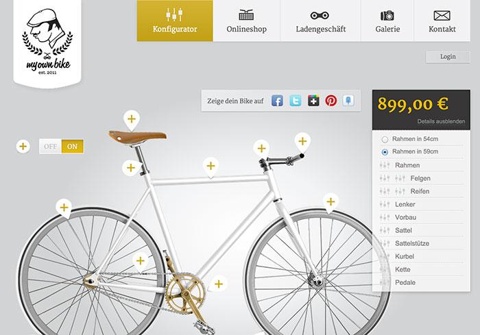 MyOwnBike utiliza la fotografía en gran formato como base para la personalización de producto