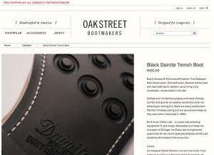 Ficha producto Oakstreet
