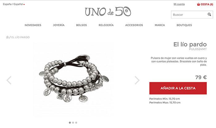 Ficha de producto de Uno de 50