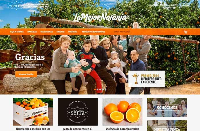La Mejor Naranja es capaz de transmitir casi toda su historia con una Hero Image