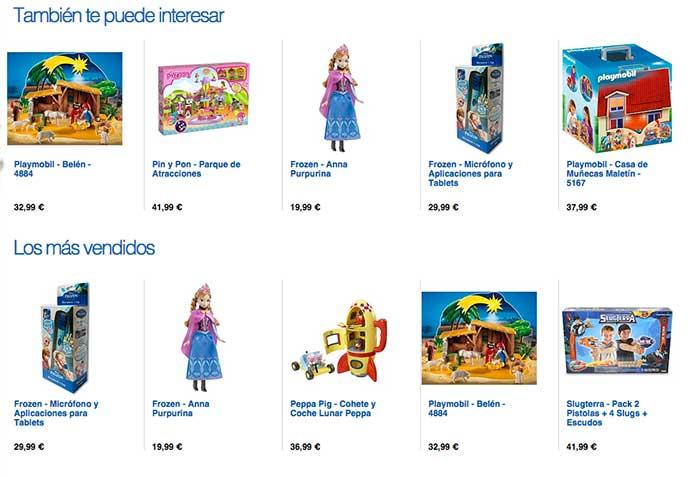 Personalización de productos en Toys'R Us, ayudando al descubrimiento de productos de interés para el usuario