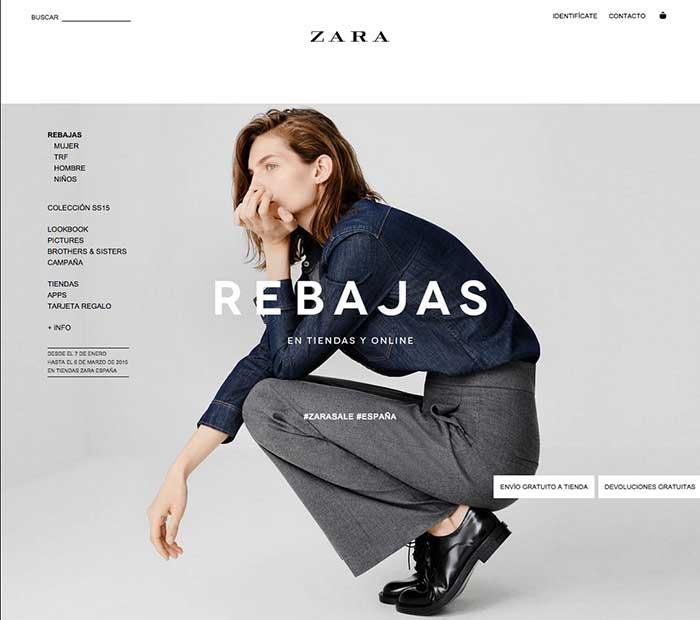 Zara hace un uso intensivo de las Hero Images