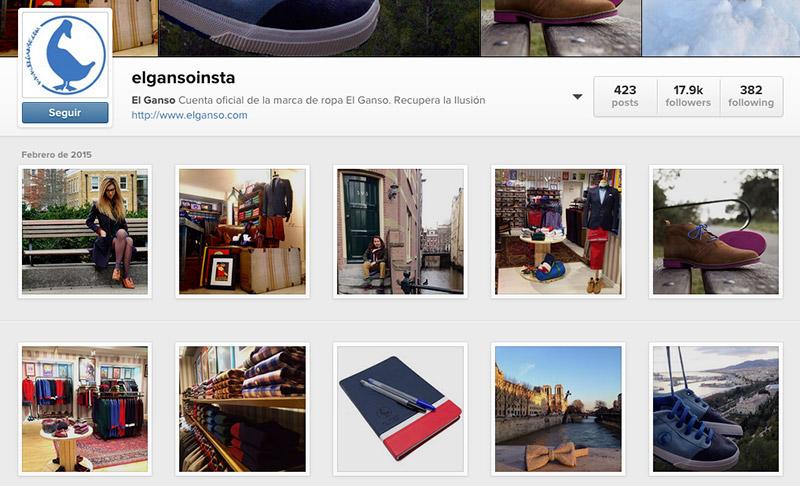 Perfil Instagram de El Ganso