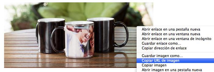 como copiar url imagen