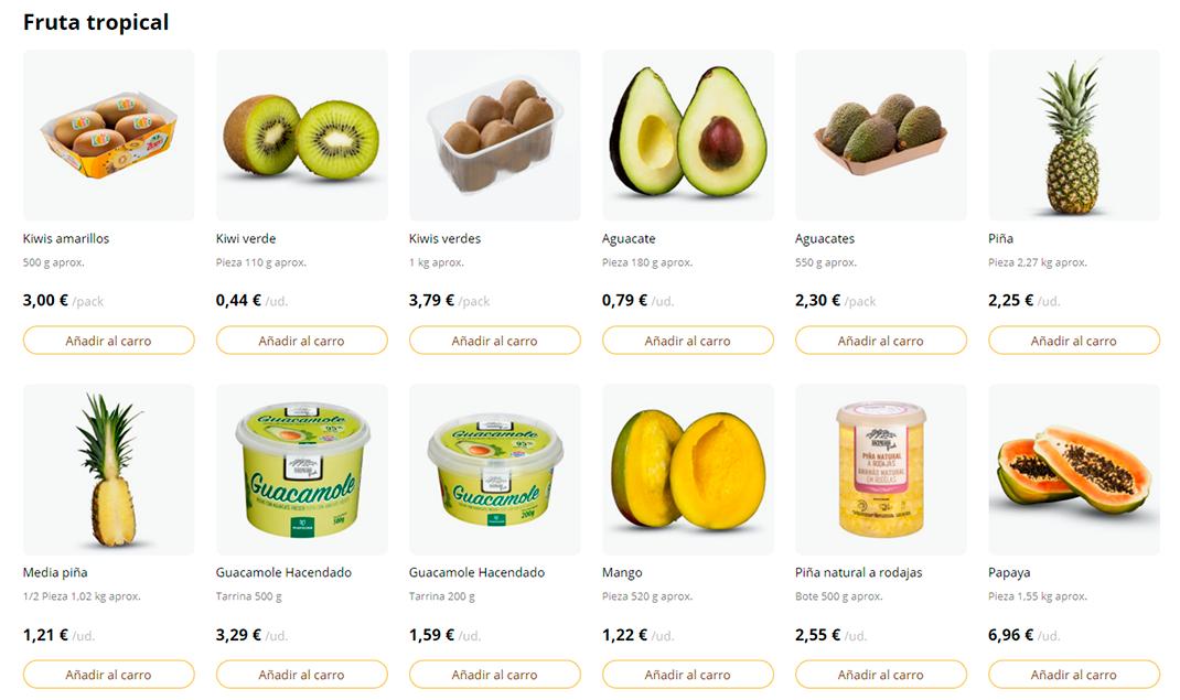 Frutas tropicales Mercadona Online