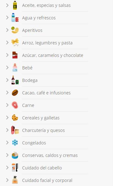 Categorías Mercadona Online