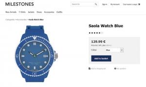 reloj ficha de producto