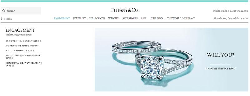 tienda online tiffany