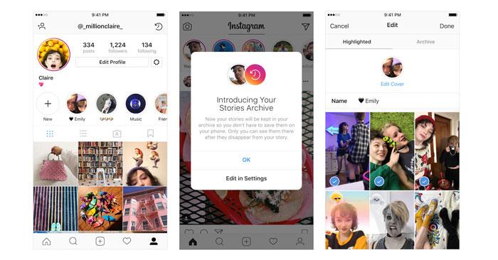 Highlights en Instagram Stories