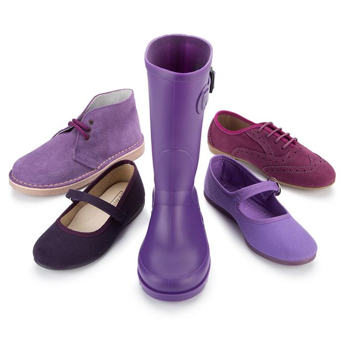 Bodegón de calzado morado de Pisamonas