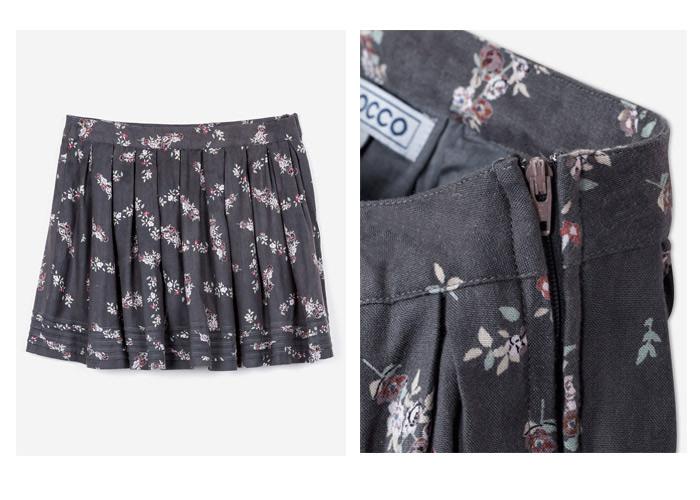 Fotografía de moda sobre plano: falda Gocco