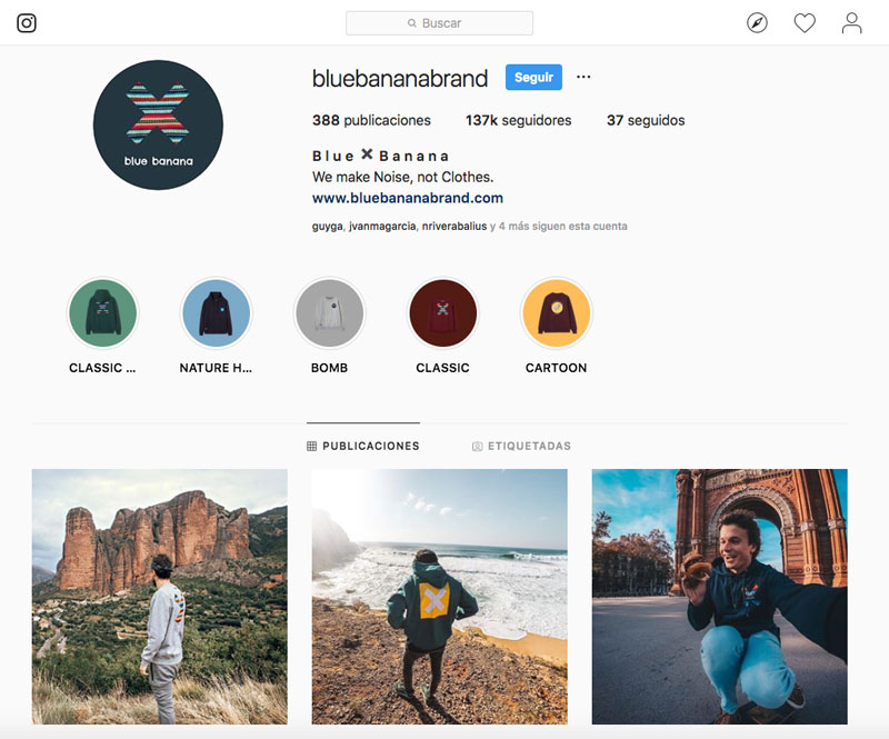 Blue Banana Brand - Instagram