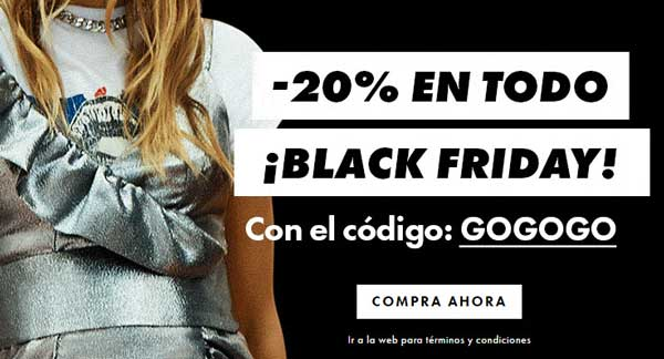 Campaña de ASOS en Black Friday