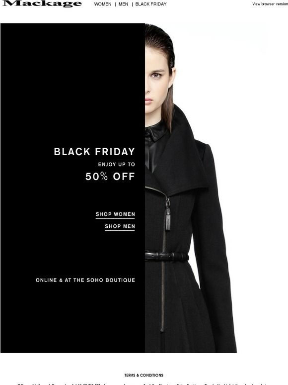 Mackage Black Friday