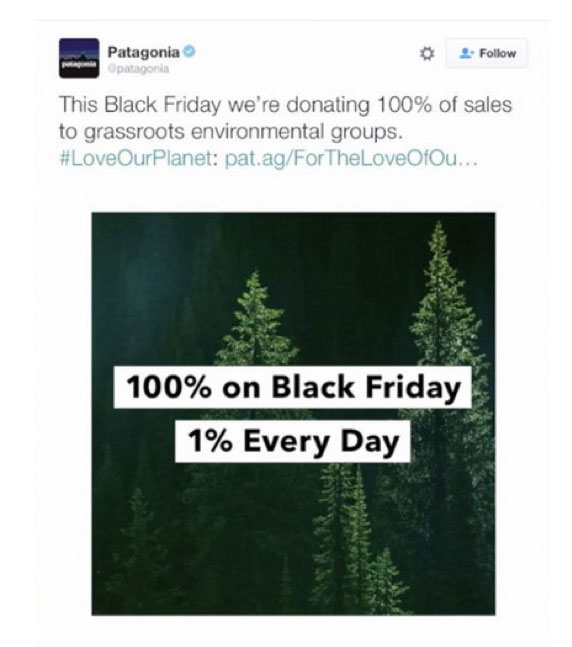 Black Friday Patagonia Donando Ingresos