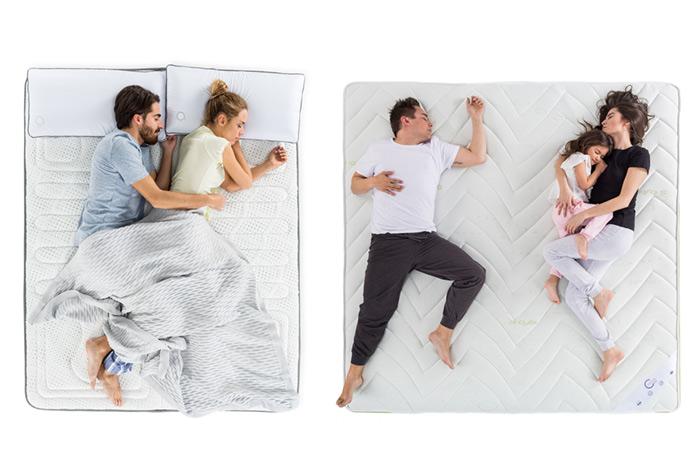 Personas tumbadas en la cama