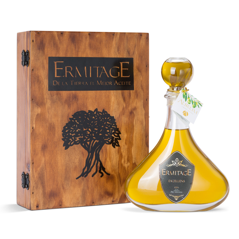 Botella packaging aceite Ermitage