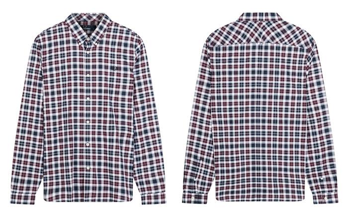Camisa, textil fotografiado en percha