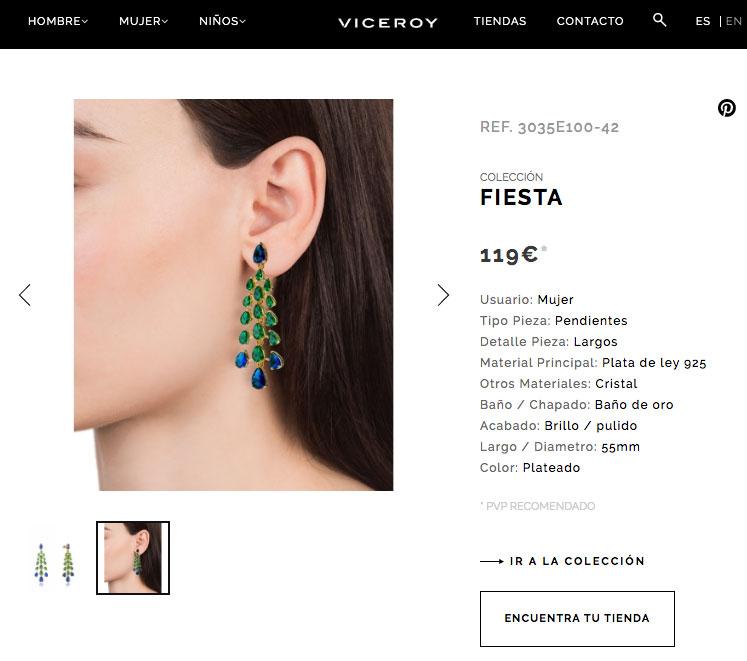 Ficha de producto Viceroy