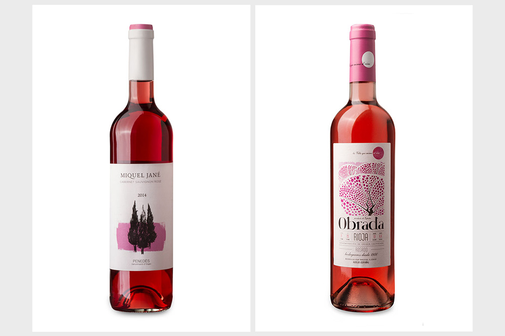 Foto botella rosado