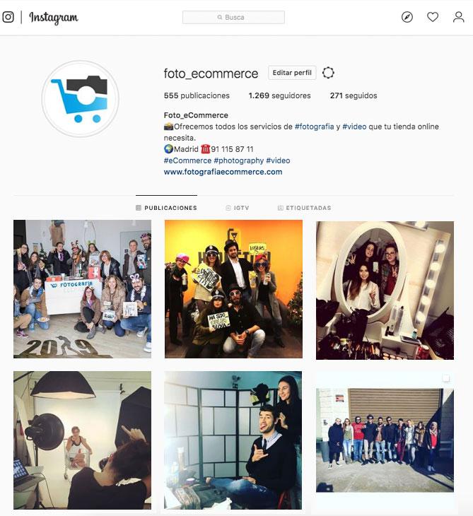 Instagram buen rollo foto ecommerce