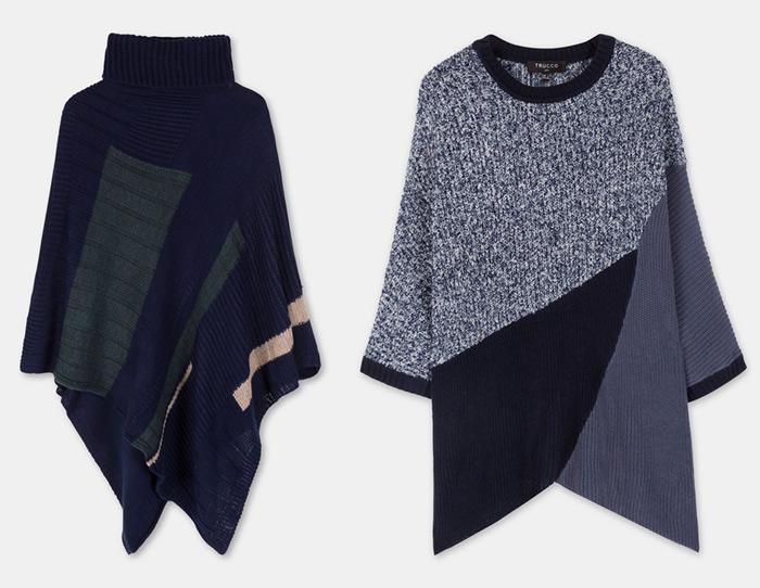 Poncho textil en percha