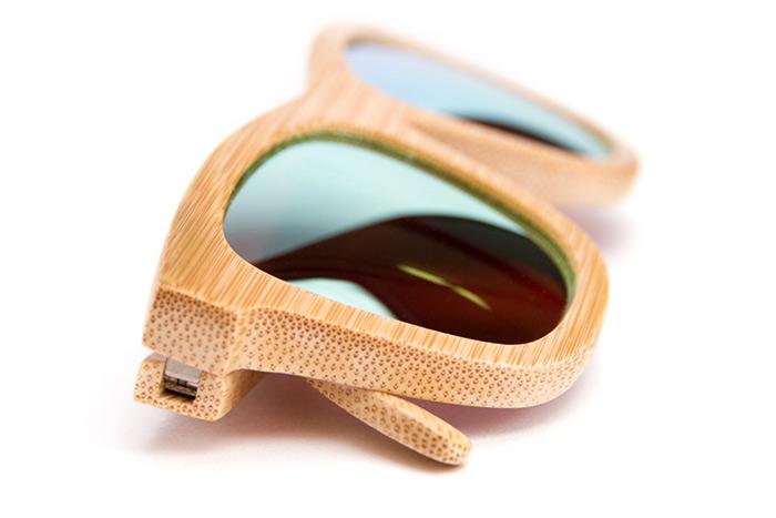 foto detalle montura madera gafa