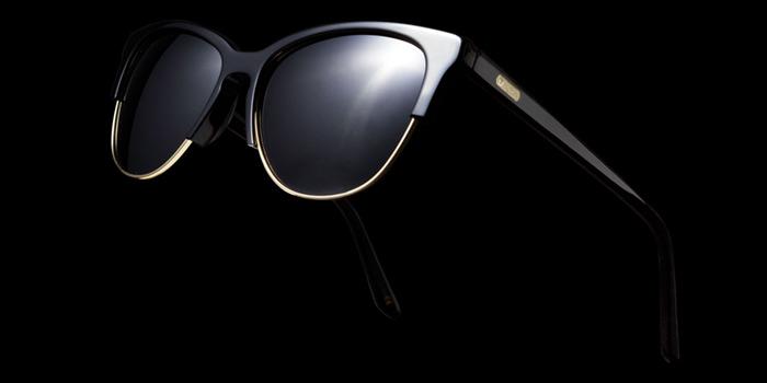 foto gafa fondo negro