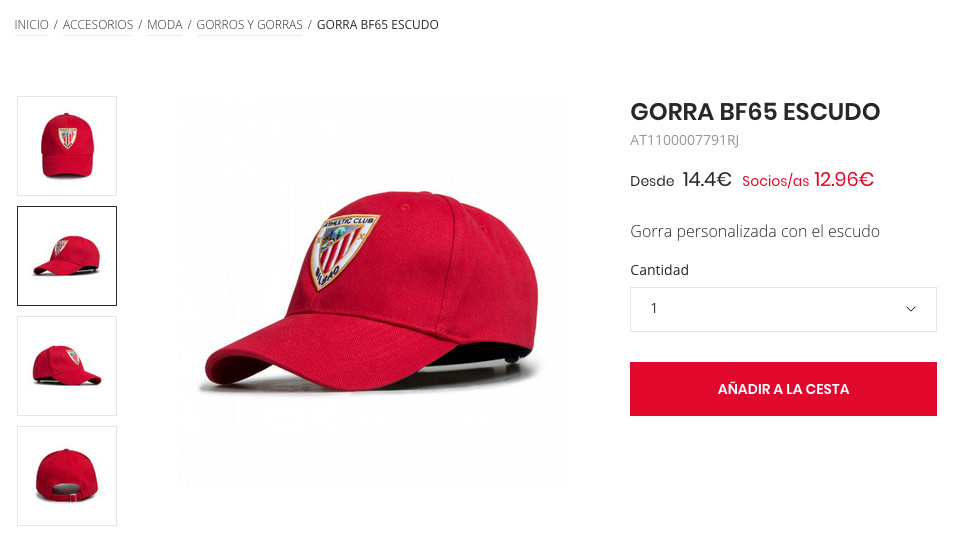 merchandising gorra athletic