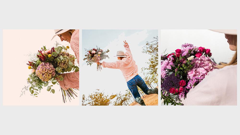 Ramo de flores redes sociales
