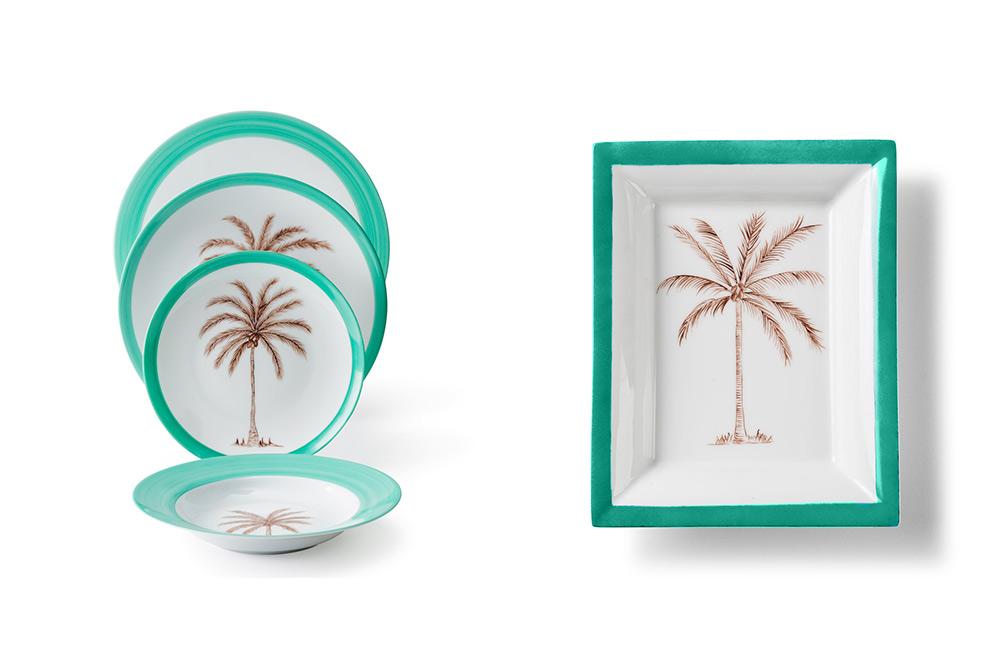 Vajilla palmeras Molecot