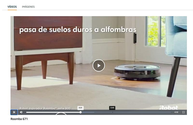Vídeo producto en Amazon