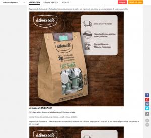 Ficha de producto de Aliexpress