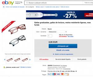 Ficha de producto de Ebay