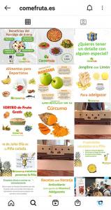 Feed ComeFruta Instagram