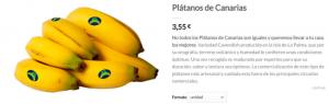 Platano de Canarias Comefruta